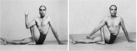 Ардха матсиендрасана (поза скручивания спины, Половинная поза Матсиендры)